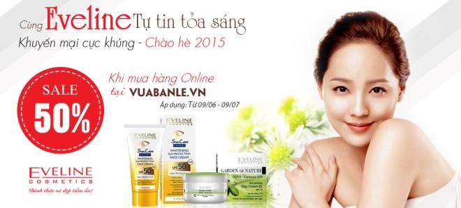 Eveline khuyến mại khai trương kênh bán hàng online tại địa chỉ vuabanle.vn